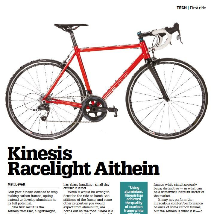 Kinesis Racelight Aithein Cycling Weekly review