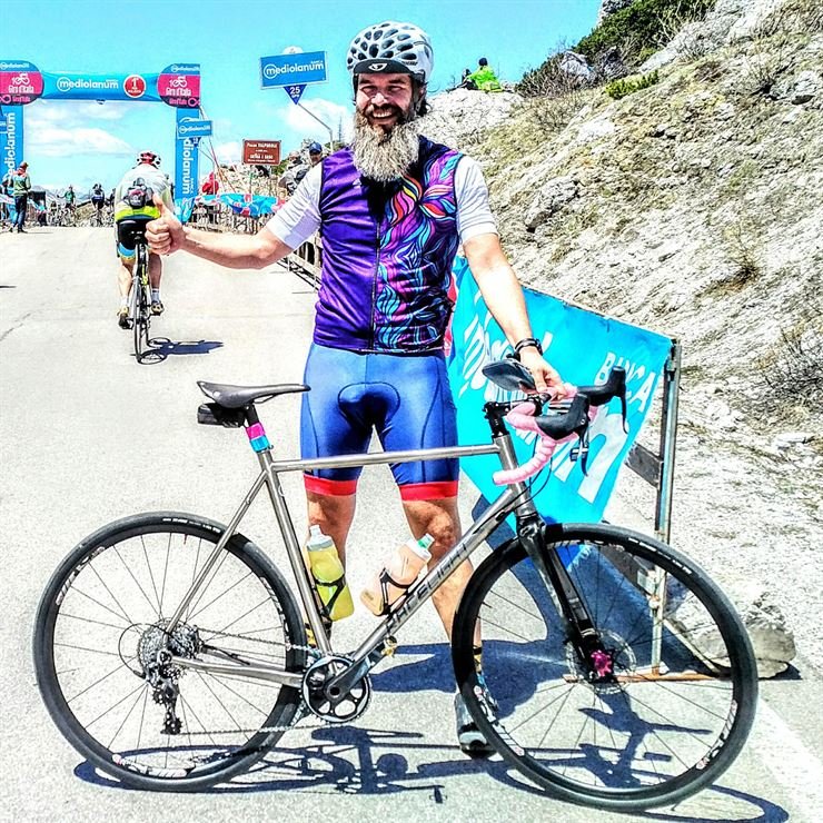 Kinesis Bikes reader Vaclav Lorenc with his Kinesis Racelight GFTi DISC