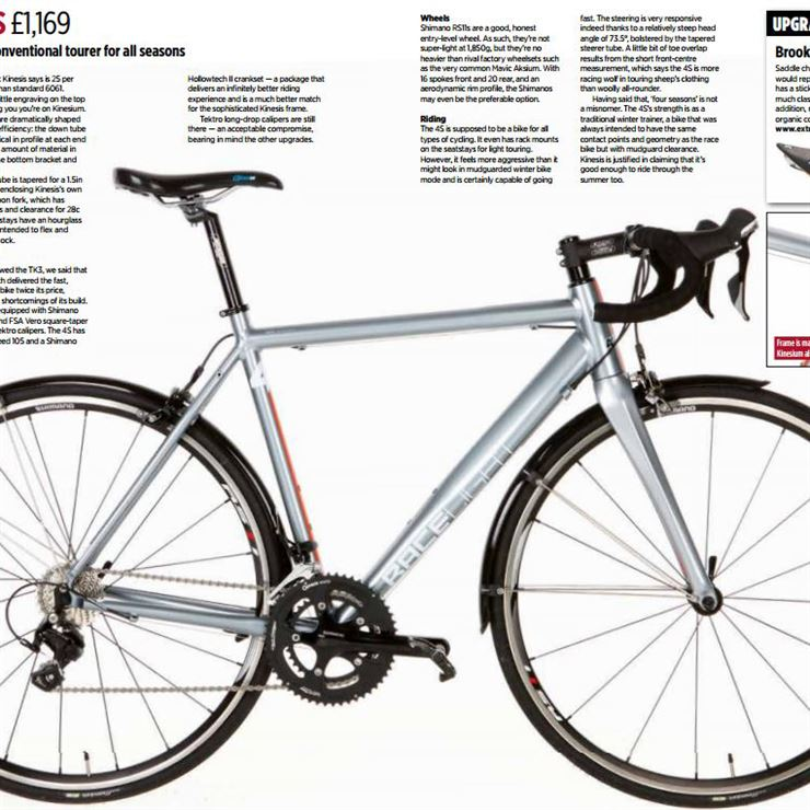 Kinesis 4S Scores 92% in Cycling Active Review!